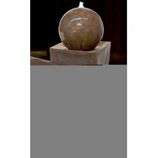 Square Tall Vase Planter with Ball Fountain
