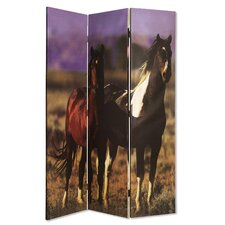"72"" x 48"" Thoroughbred 3 Panel Room Divider"