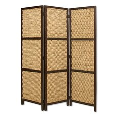 """72"""" x 60"""" Braided Rope 3 Panel Room Divider"""