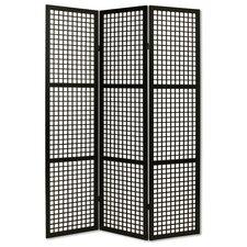 "72"" x 55"" Eternal Squares 3 Panel Room Divider"