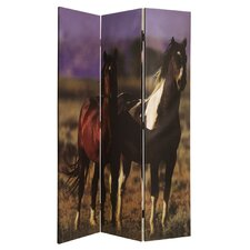 "<strong>Screen Gems</strong> 72"" x 48"" Thoroughbred 3 Panel Room Divider"