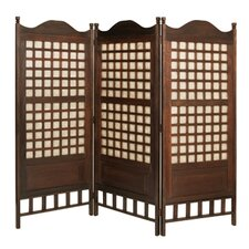 "<strong>Screen Gems</strong> 66"" x 70"" Capice Diamond Screen 3 Panel Room Divider"