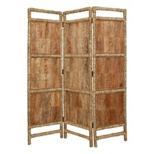 "73"" x 60"" Coconut Screen 3 Panel Room Divider"