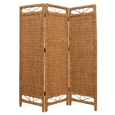 "73"" x 60"" Cascading Palm Screen 3 Panel Room Divider"