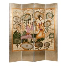 "73"" x 72"" Harmony Garden Screen 4 Panel Room Divider"
