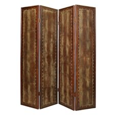 "86"" x 76"" Double Sided Reptillian Screen 4 Panel Room Divider"