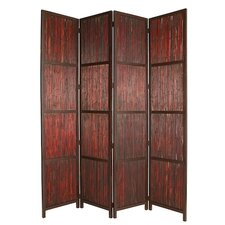 "97"" x 80"" Savannah Screen 4 Panel Room Divider"