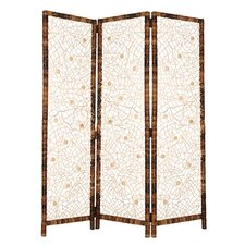 "<strong>Screen Gems</strong> 73"" x 62"" Spider Screen 3 Panel Room Divider"
