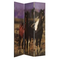 "73"" x 48"" Thouroghbred Screen 3 Panel Room Divider"