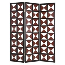 Navarro Screen with Brown and White Diamond Pattern