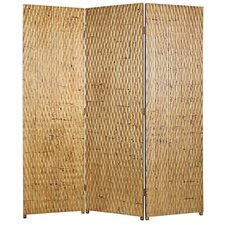 "74"" x 63"" Gilded Screen 3 Panel Room Divider"