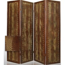Reptile Faux Leather Room Divider