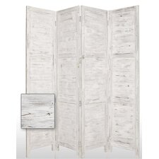 "84"" Nantucket Painted Room Divider in White"