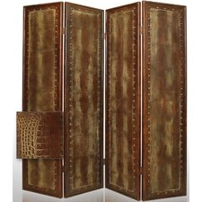 "<strong>Screen Gems</strong> 84"" x 76"" Reptile Double Sided 4 Panel Room Divider"