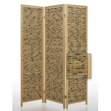 "72"" x 52"" Boca Bamboo Screen 3 Panel Room Divider"