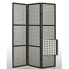 Eternal Squares Folding Room Divider in Black