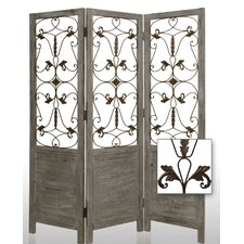 Hampton Decorative Room Divider in Grey