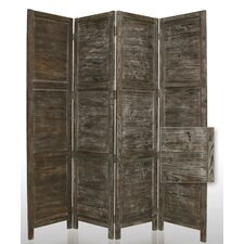 "84"" Nantucket Painted Room Divider in Black"