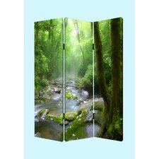 "<strong>Screen Gems</strong> 72"" x 48"" Meadows and Streams Screen 3 Panel Room Divider"