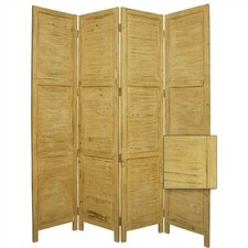 "84"" x 76"" Nantucket Painted 4 Panel Room Divider"