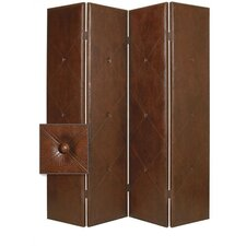 Copley Faux Leather Double Sided Room Divider