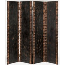 "<strong>Screen Gems</strong> 84"" x 84"" Remington Folding Double Sided 4 Panel Room Divider"