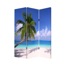 "<strong>Screen Gems</strong> 71"" x 47"" Paradise Screen 3 Panel Room Divider"