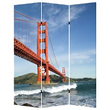 "<strong>Screen Gems</strong> 71"" x 47"" San Francisco 3 Panel Room Divider"