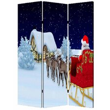 "<strong>Screen Gems</strong> 71"" x 47"" Christmas 3 Panel Room Divider"