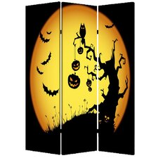 "71"" x 47"" Halloween 3 Panel Room Divider"