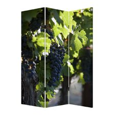 "<strong>Screen Gems</strong> 71"" x 47"" Wine Country 3 Panel Room Divider"