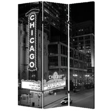 "<strong>Screen Gems</strong> 71"" x 47"" Chicago 3 Panel Room Divider"