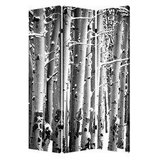 "71"" x 47"" Birch 3 Panel Room Divider"