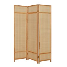 "72"" x 52"" Pine Layered 3 Panel Room Divider"