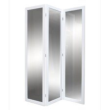 "69"" Mirrior Screen 3 Panel Room Divider"