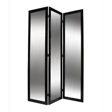 "<strong>Screen Gems</strong> 69"" x 50"" Mirrior 3 Panel Room Divider"
