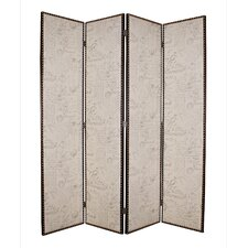 "<strong>Screen Gems</strong> 84"" x 80"" Navarro 4 Panel Room Divider"