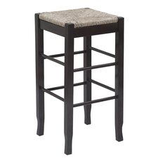 "24"" Rush Bar Stool with Cushion"