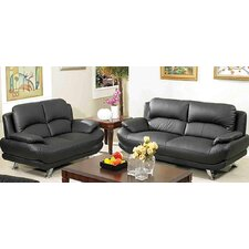 <strong>AC Pacific</strong> Alice Sofa and Loveseat Set