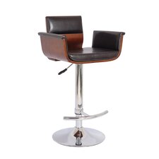 "24"" Adjustable Swivel Bar Stool with Cushion"
