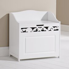 Corella Floor Hamper in White