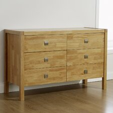 Vienna Valencia 6 Drawer Wide Chest
