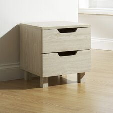 Julia 2 Drawer Bedside Table