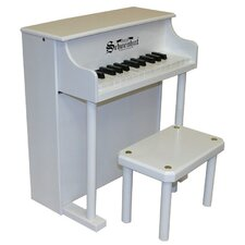 Traditional Spinet Piano in White