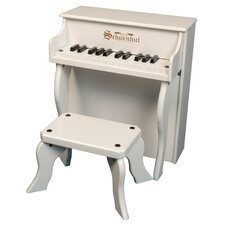 Elite Spinet Piano in White