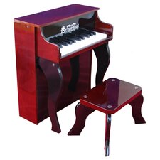 25 Key Elite Spinet Piano in Mahogany / Black