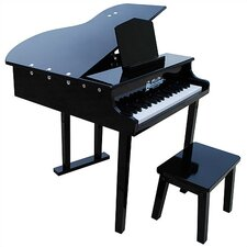 Concert Grand Piano with Opening Top in Black