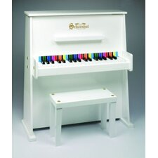 Day Care Durable Upright Piano in White
