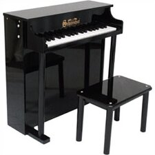 Traditional Deluxe Spinet Piano in Black