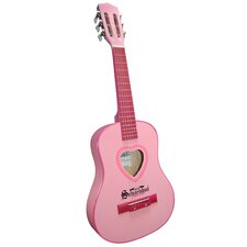 Six Metal String Guitar in Pink